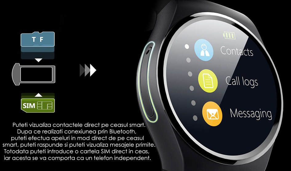 ceas smartwatch telefon si notificari-3